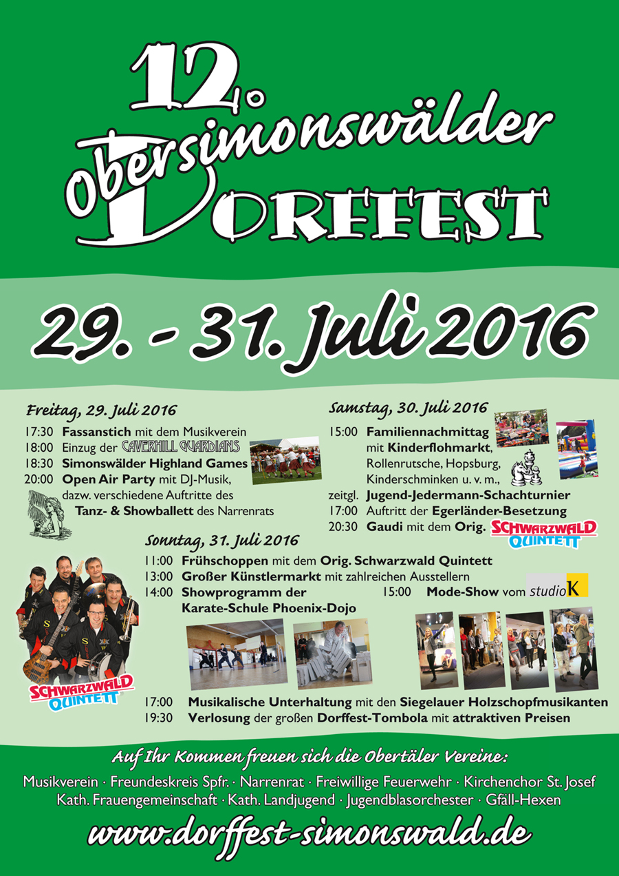 2016 Dorffest Plakat DINA4